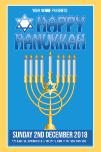 Happy Hanukkah Poster Iphosta template
