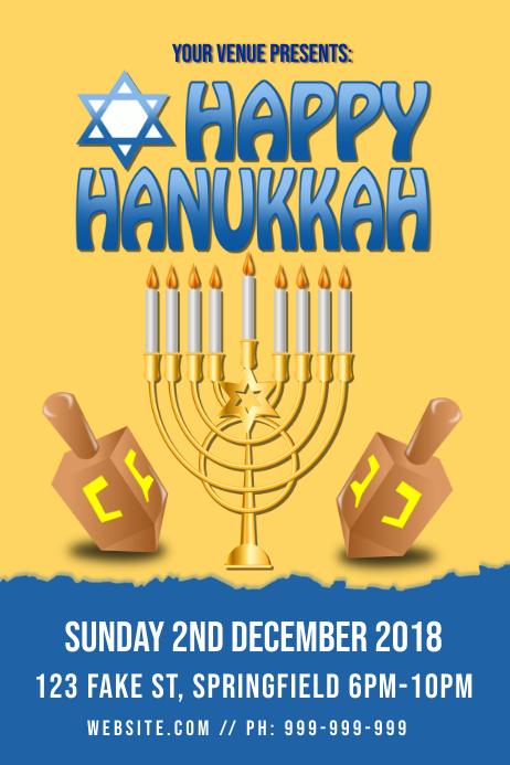Happy Hanukkah Poster