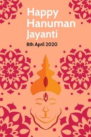 Happy Hanuman Jayanti flyer Template