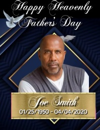 Happy Heavenly Father's Day Flyer (US-Letter) template