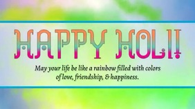 Happy Holi Display digitale (16:9) template
