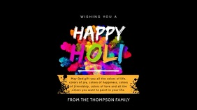 Happy Holi Digital Display