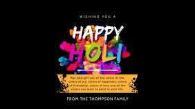 Happy Holi Digital Display