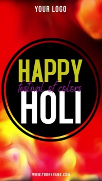 Happy holi instagram story template