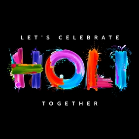 Happy Holi Poster Template