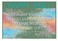 HAPPY HOLI QUOTE TEMPLATE A6
