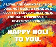HAPPY HOLI QUOTE TEMPLATE Medium Rectangle