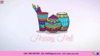 Happy Holi Wishes Animation Gif Template Digital Display (16:9)