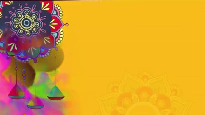 Happy Holi wishes Animation video Umbukiso Wedijithali (16:9) template