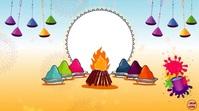 Happy Holi Wishes Animation video Digital Display (16:9) template