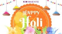 Happy Holi Wishes Animation video Affichage numérique (16:9) template