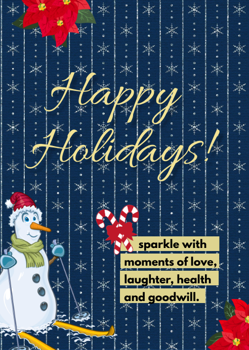 Happy Holiday Greeting A6 template