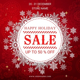 Happy holiday sale Instagram-Beitrag template