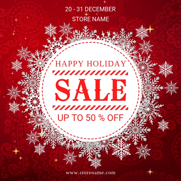 Happy holiday sale