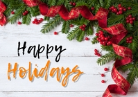Happy holidays banner A3 template