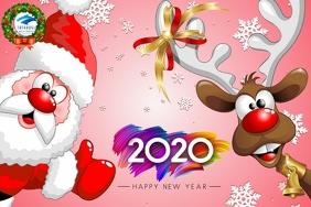Happy Holidays Card snow