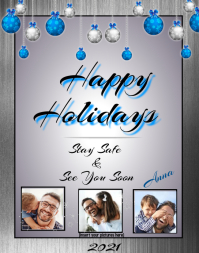 Happy Holidays Christmas Card Poster/Wallboard template