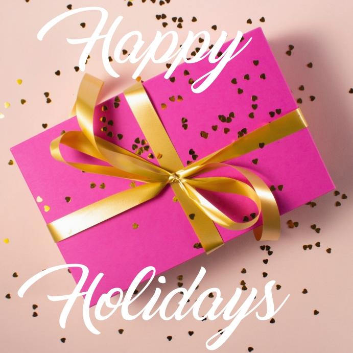 happy holidays Kvadrat (1:1) template