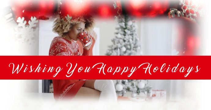 Happy Holidays Anuncio de Facebook template