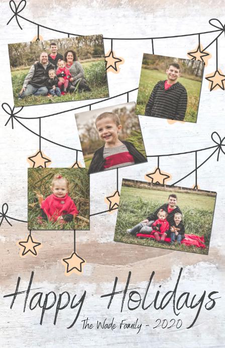 Happy Holidays Meia página larga template
