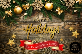 Happy Holidays Poster template