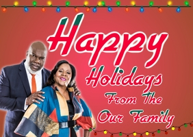 Greetin card happy holidays church pastor