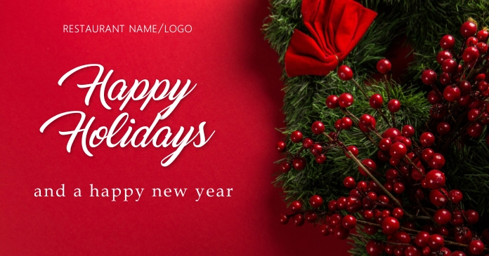 Happy holidays Facebook Shared Image template