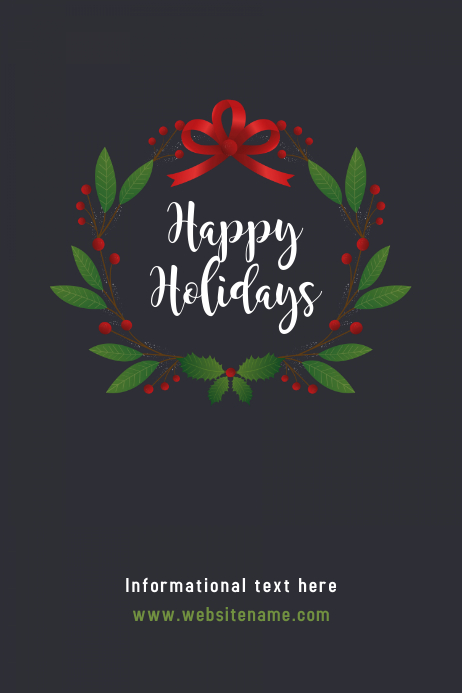 Happy Holidays poster