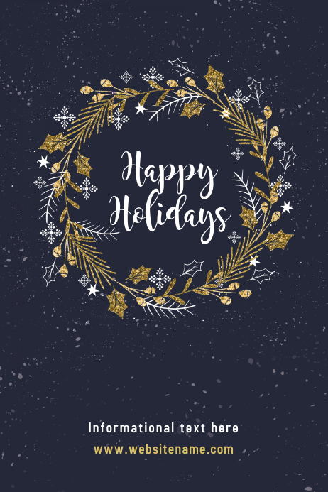 happy holidays poster template postermywall