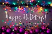 Happy Holidays Greeting Card Rótulo template