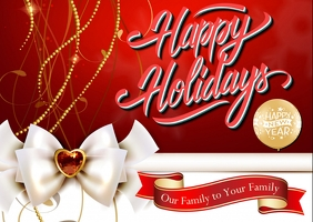 Happy Holidays New year greetings