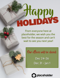 Happy Holidays Office Closure - Packages