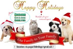 Happy Holidays Pet Card