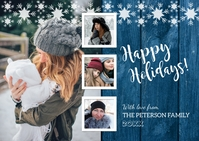 Happy Holidays Photo Postcard Postkort template