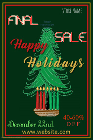 Happy Holidays Sale Poster Template