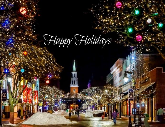 Happy Holidays social media post Løbeseddel (US Letter) template