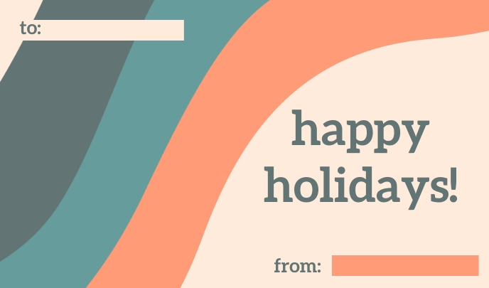 Happy Holidays Tag Label template