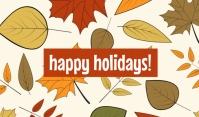 Happy Holidays Tag Templates