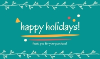 Happy Holidays Template Mærke