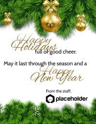 Happy Holidays - Transparent Background