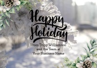 Happy Holidays Video Business e-Card Poskaart template