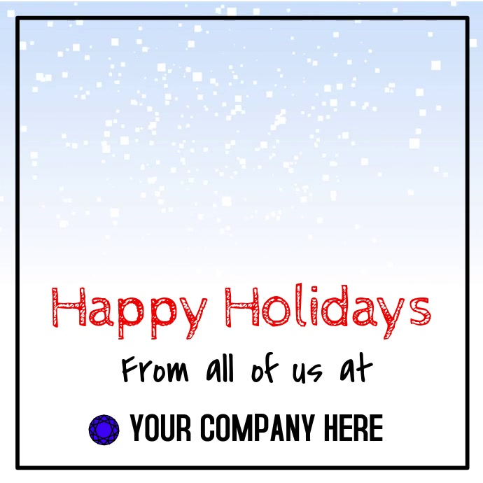 Happy Holidays Video Template   PosterMyWall