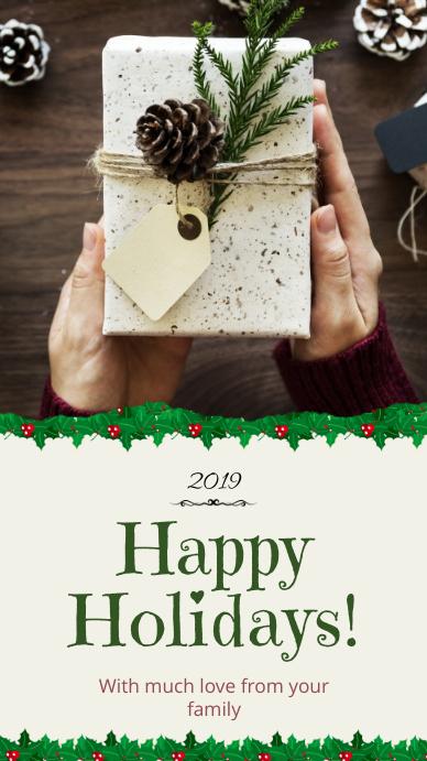 Happy Holidays Whatsapp Status Template