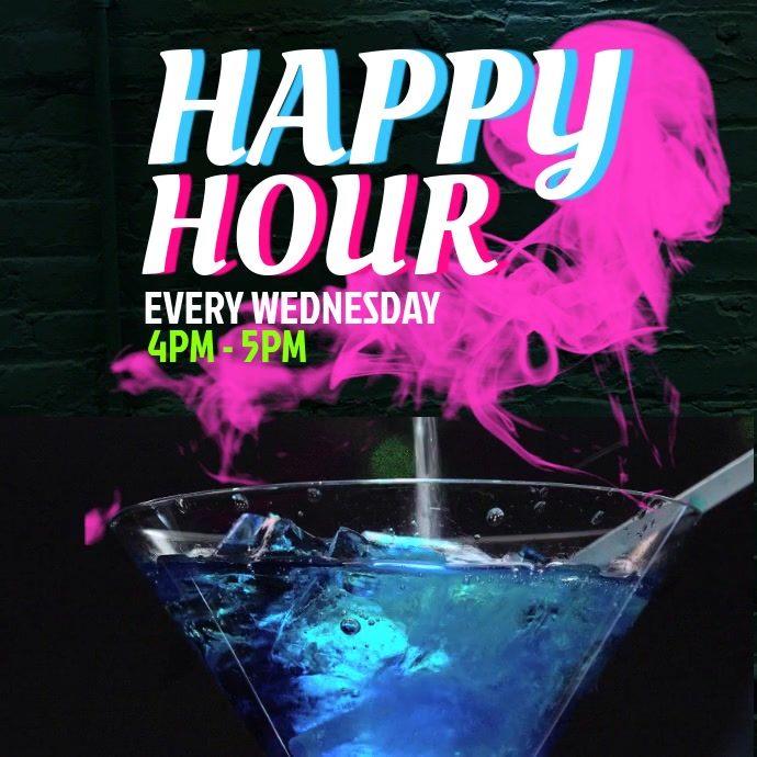 Happy Hour Ad Video Template Instagram-Beitrag