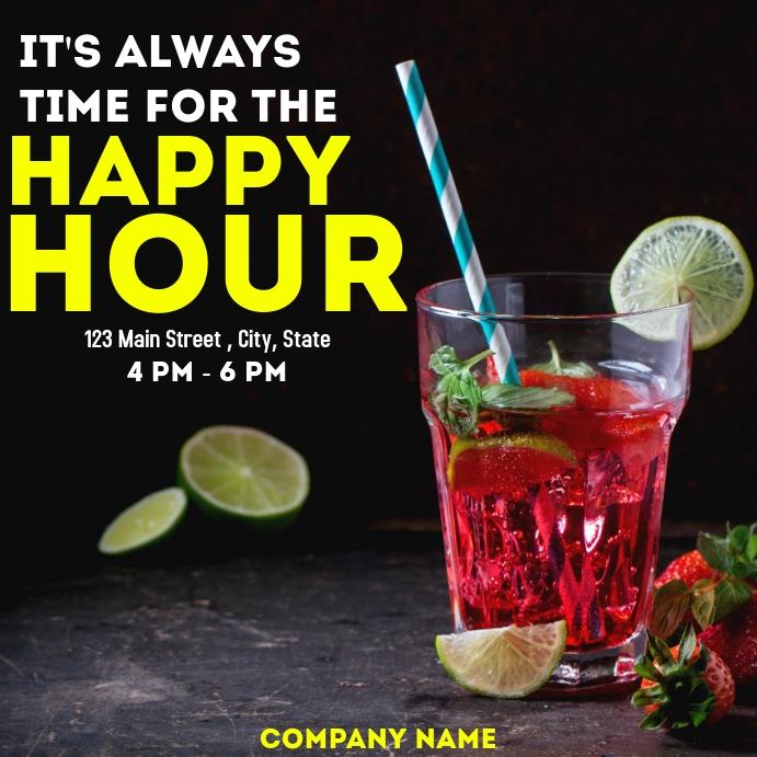 Happy hour advertisement instagram post template