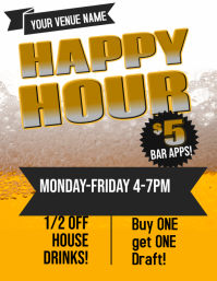 Happy Hour Bar Flyer