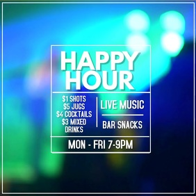 Happy Hour Bar Promo Video Ad Template