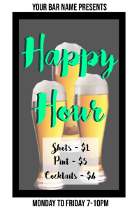 Happy Hour Bar Template