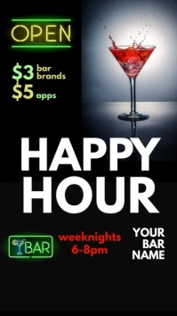 Happy Hour Bar Vertical Display