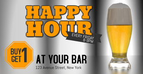 happy hour beer promotion sale bar facebook post template